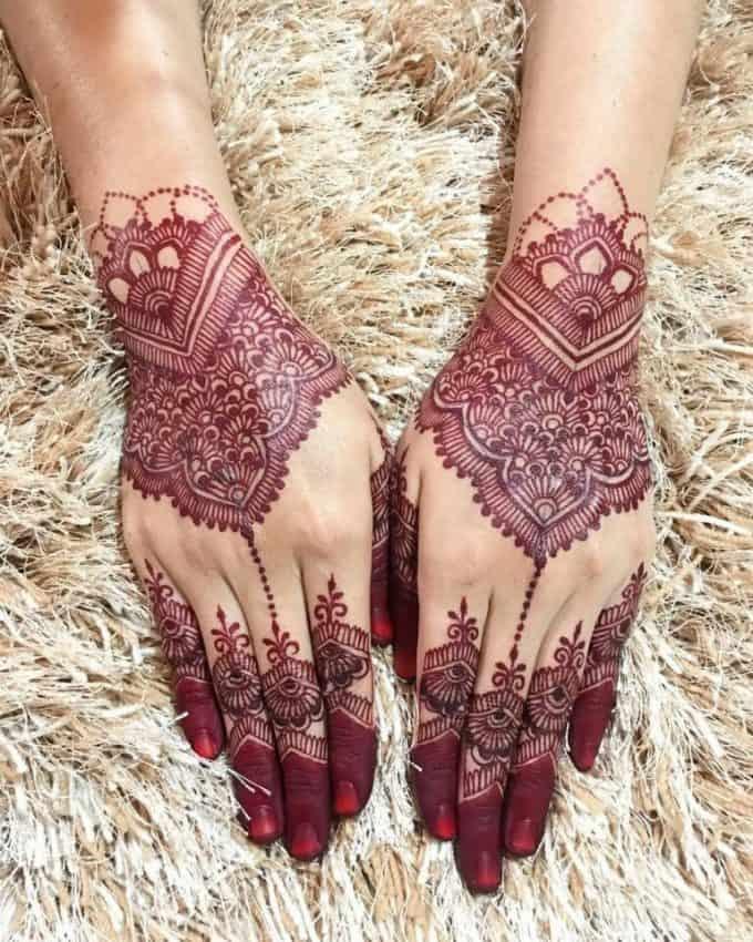 Henna Desain Rumit