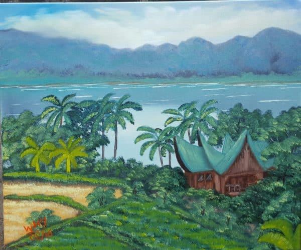 Pemandangan di Pinggir Danau