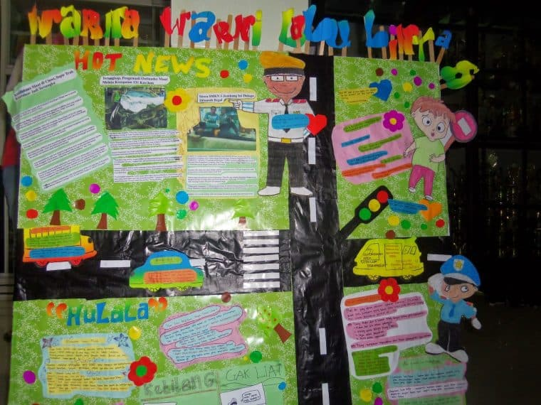 contoh mading 2d