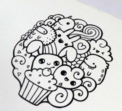 doodle art simpel