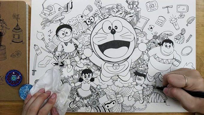 doodle doraemon