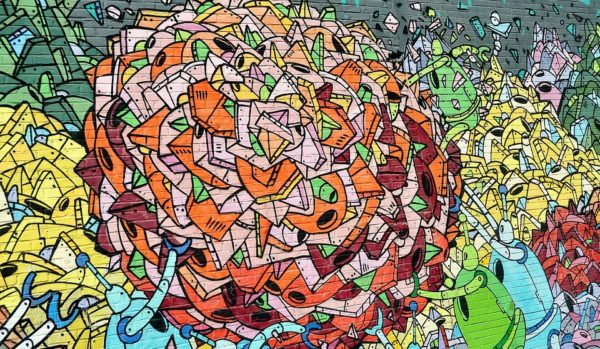 grafiti abstrak