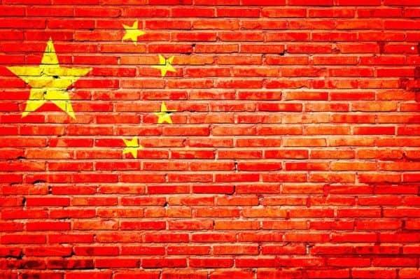 grafiti bendera china