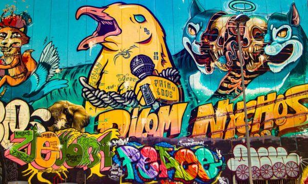 grafiti burung bernyanyi