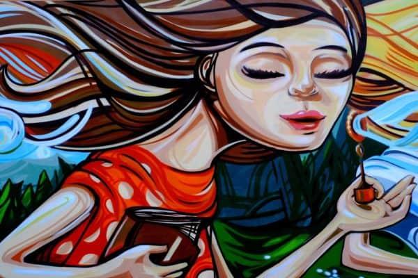 grafiti gadis gelembung sabun