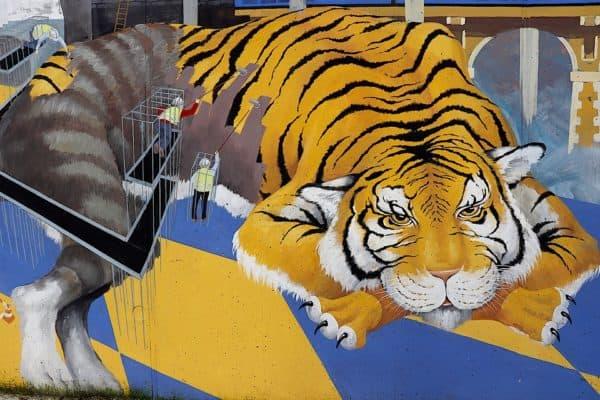 grafiti harimau
