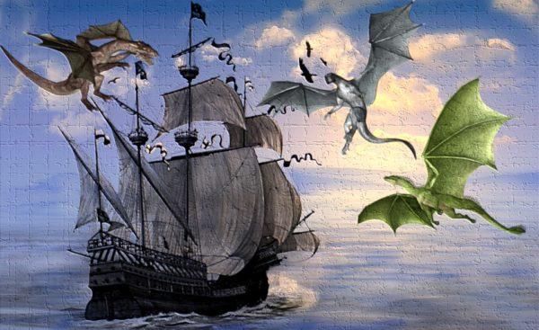 grafiti kapal dan naga