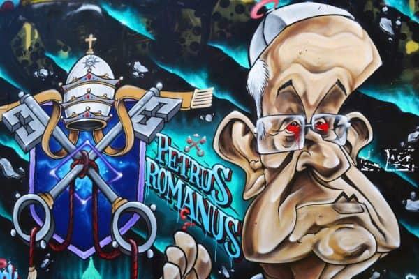 grafiti paus