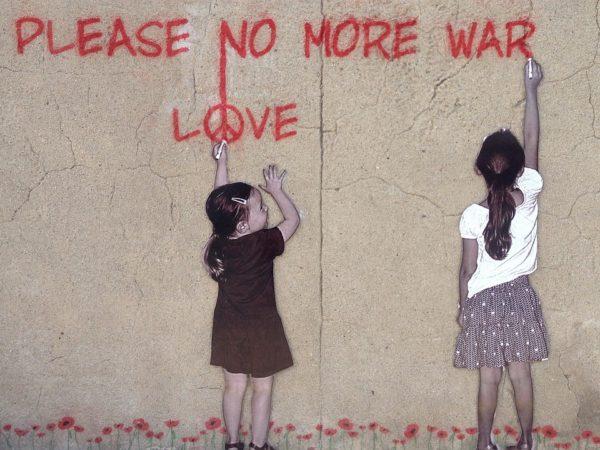 grafiti pesan perdamaian