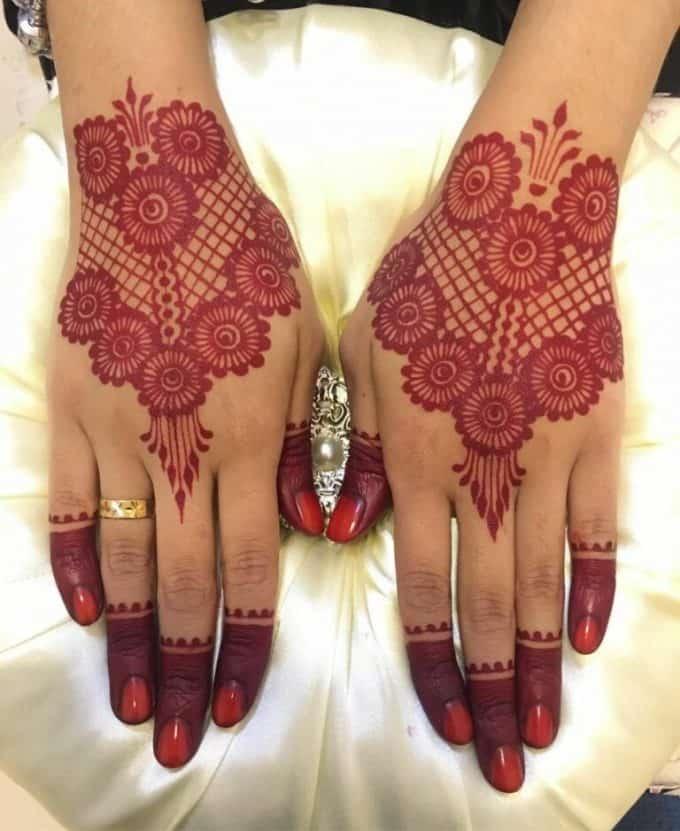 henna warna merah