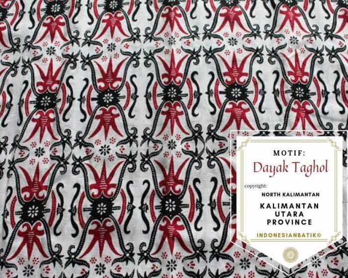 motif batik dayak kalimantan utara