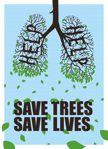 contoh poster selamatkan pohon
