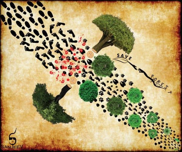 contoh poster tentang hutan