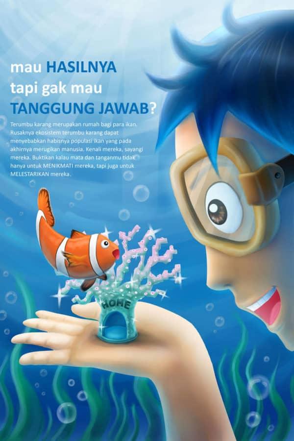 contoh poster tentang terumbu karang